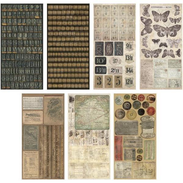 Advantus Tim Holtz Idea-Ology Cardstock Salvage Stickers