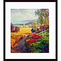 Robert Lombardi 'Fields of Gold' Wood-framed Art Print