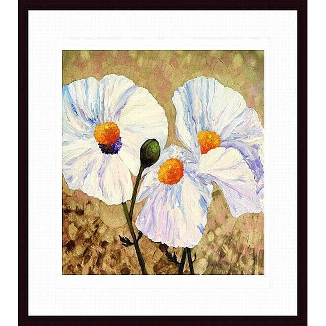 Lisa Feather Knee 'Paper Whites' Wood-framed Art Print