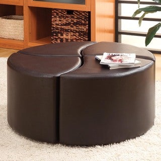 Tribecca Home Evan 4-piece Cocktail Ottoman