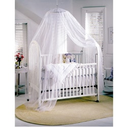 100-percent Polyester Siam Sheer Baby Canopy in White