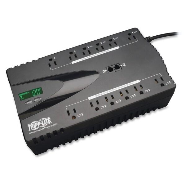 Tripp Lite UPS 850VA 425W Eco Green Battery Back Up LCD 120V USB RJ11