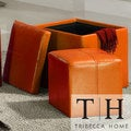 Swayne Orange Storage Ottoman with Mini