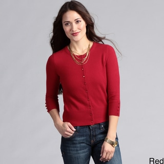 Grace Cashmere Women's Basic Cardigan FINAL SALE
