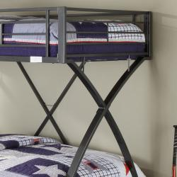 Carter Metal Twin Full Bunk Bed