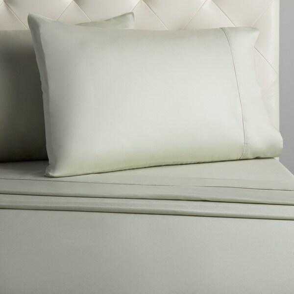 Grand Luxe Egyptian Cotton Sateen 300 Thread Count Solid Deep Pocket Sheet Set
