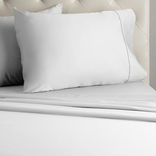 Grand Luxe Egyptian Cotton Sateen 300 Thread Count Solid Deep Pocket Sheet Set and PIllowcase Separates