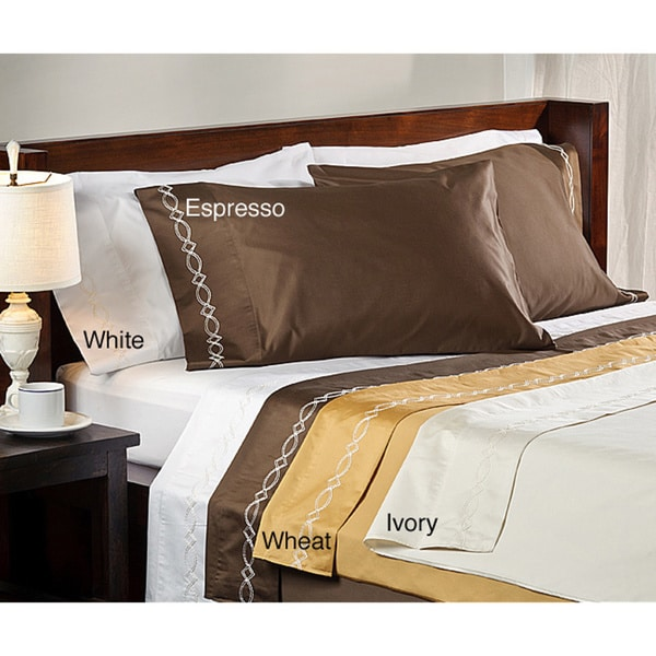 Grand Luxe Egyptian Cotton Sateen 800 Thread Count Chain Solid Deep Pocket Sheet Set