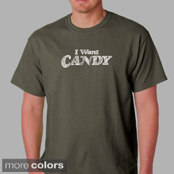 Los Angeles Pop Art Men's 'I Want Candy' T-shirt