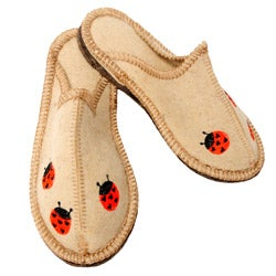 Children's Felt Bugs Eco Slippers (Russia)