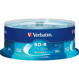 Verbatim BD-R LTH Type 25GB 6X with Branded Surface - 20pk Spindle