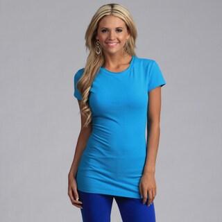 Yogacara Women's Turquoise Cap Sleeve Top