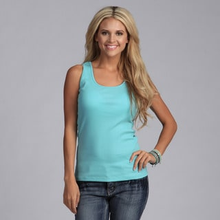 Yogacara Women's Aqua Haze Ribbed Tank Top