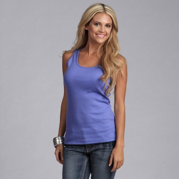 Yogacara Women's Violet Ribbed Tank Top