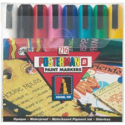 Zig Posterman Broad 6 mm Chisel Tip Markers (Pack of 8)