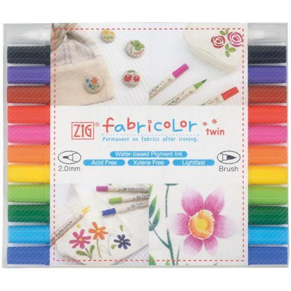 Zig Fabricolor Twin-tip Markers (Pack of 12)