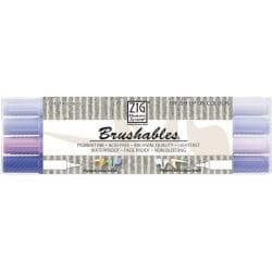 Zig Memory System Brushables Dual-Tip Purple Marker