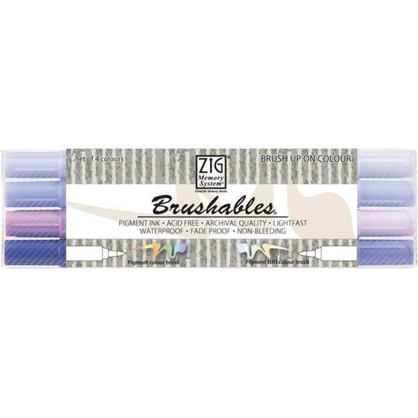 Zig Memory System Brushables Dual-Tip Purple Marker