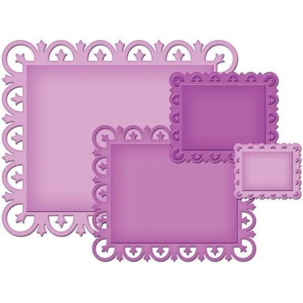 Spellbinders Nestabilities 'Fleur De Lis Rectangles' Decorative Elements Dies