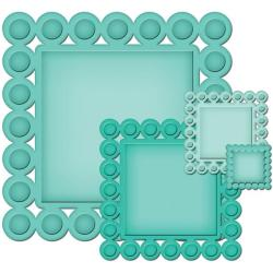 Spellbinders Nestabilities 'Beaded Squares' Decorative Elements Dies