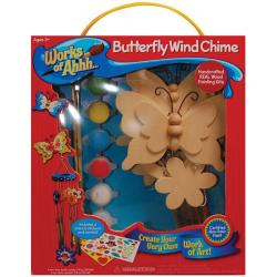 Works Of Ahh Butterfly Wind Chimes Large Wood Paint Kit