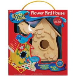 Works Of Ahh Flower Bird House Large Wood Paint Kit