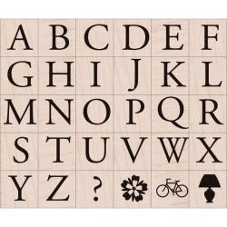 Hero Arts 'Garamond Letters' Wood-mounted Stamp Set