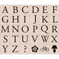 Hero Arts 'Garamond Letters' Wood-mounted Stamp Set