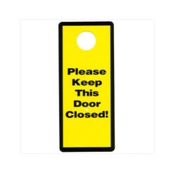 Garage and Basement Door Safety Sign