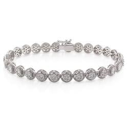 Miadora 18k White Gold 2 3/4ct TDW Diamond Tennis Bracelet (G-H, SI1-SI2)