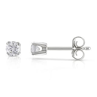 1/4ct Miadora 14k White Gold Certified Diamond Stud Earrings (G-H, I1-I2)
