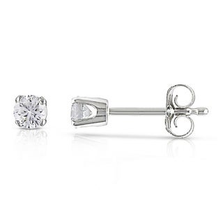 1/4ct Miadora 14k White Gold Certified Diamond Stud Earrings (G-H, I1-I2) with Bonus Earrings