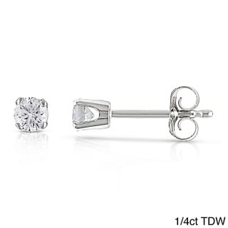 Miadora 14k White Gold Certified Diamond Stud Earrings