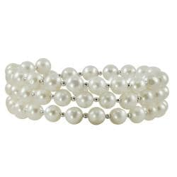 Pearls For You Sterling Silver Freshwater Pearl Bangle Bracelet (6-7 mm)