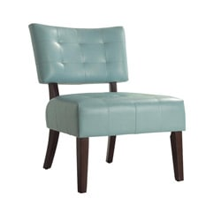 Smith Collection Sky Blue Accent Chair