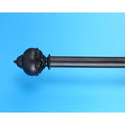 Roma Black 44 to 88-inch Adjustable Curtain Rod Set