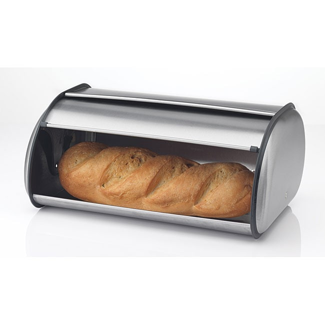 Prime Pacific 17-inch Brushed Stainless Steel Roll Top Bread Box