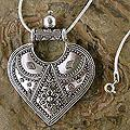 review detail Sterling Silver 'Mighty Heart' Necklace (India)