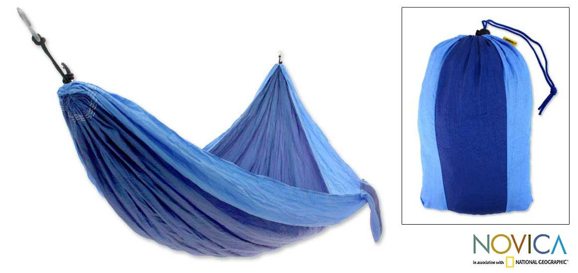 Nylon 'Island Waterfall' Parachute Hammock (Indonesia)
