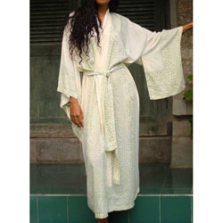 Rayon 'Bali Meadow' Batik Robe (Indonesia)