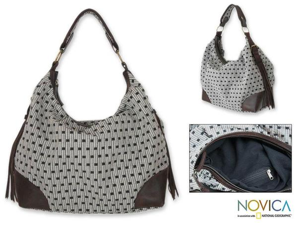 Cotton 'Chiang Mai Puzzle' Large Hobo Bag (Thailand)