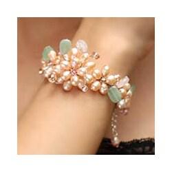 Pearl 'Spring Garland' Gemstone Flower Bracelet (5-5.5 mm) (Thailand)