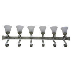 Old World 6-light Crystal Mist Finish Bath Sconce