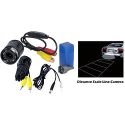 Pyle Waterproof Universal Mount Rearview Camera with Distance Scale Line