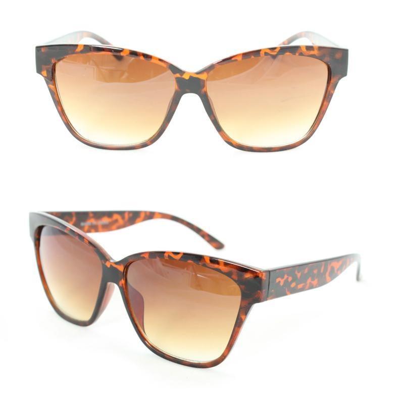 Unisex 2177 Brown Leopard Plastic Fashion Sunglasses