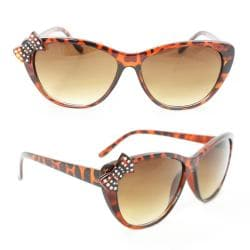 Women's 7070 Brown Plastic Cateye Sunglasses
