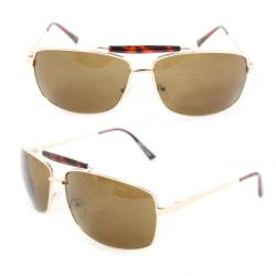 Men's 7073 Gold Metal Navigator Sunglasses