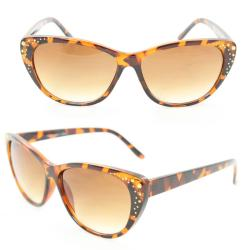 Women's 7071 Brown Plastic Cateye Sunglasses