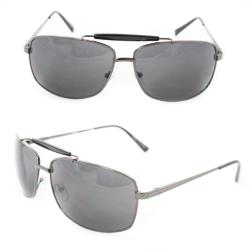 Men's 7073 Black Metal Navigator Sunglasses