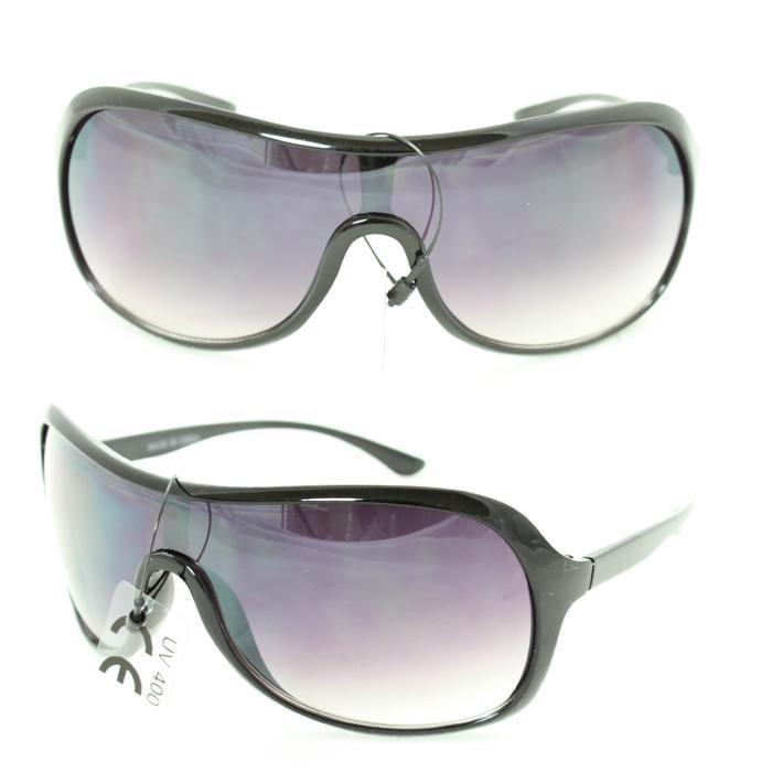 Unisex 592 Purple Gradient Lens Shield Sunglasses